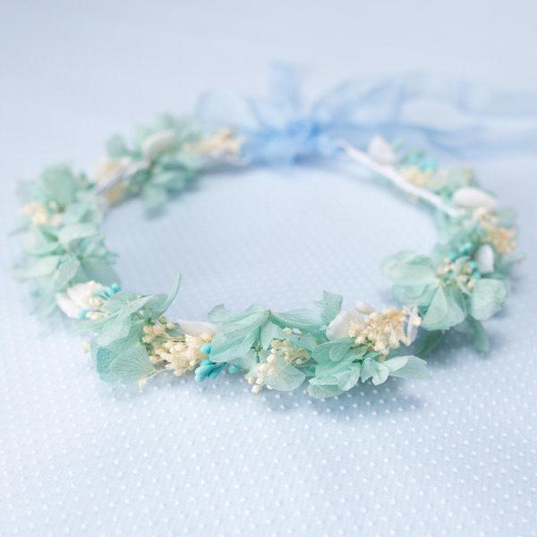 corona de arra azul y blanco