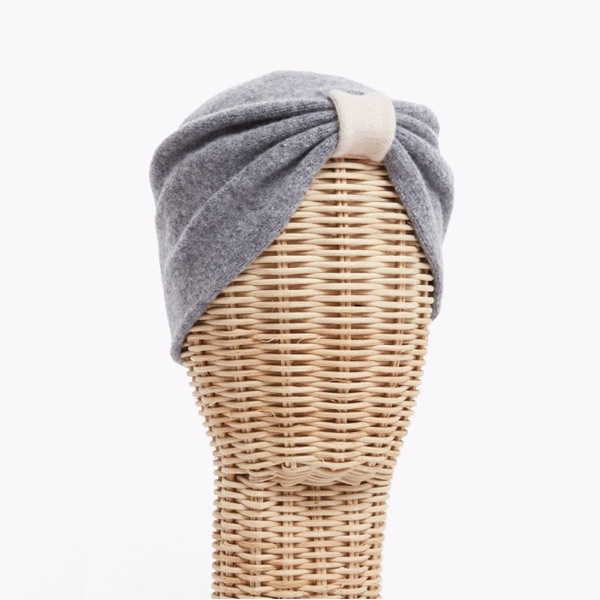 Turbante Gris Beige