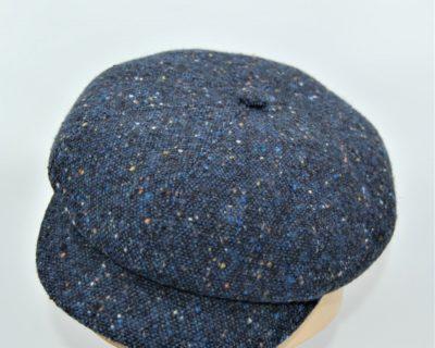 Gorra Newsboy en  tweed azul
