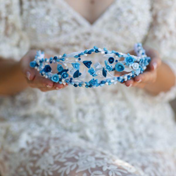 tiara de porcelana Capri