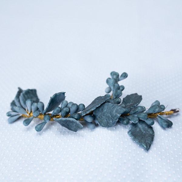 Tiara porcelana azul petroleo - Sombrerería Matilde Falcinelli
