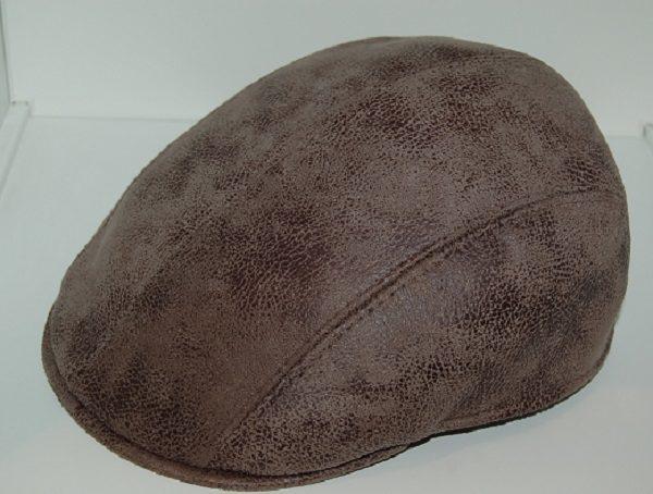 Gorra inglesa piel Marone - Sombrerería Matilde Falcinelli