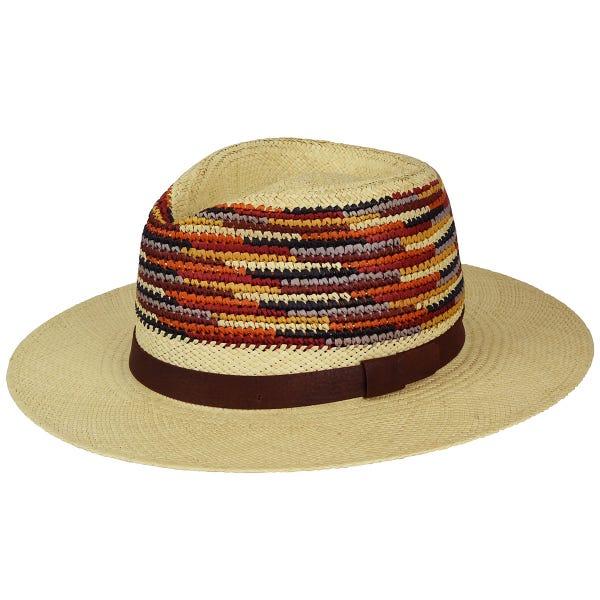 Sombrero panama con copa crochet