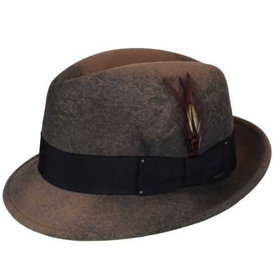Sombrero fieltro Hombre ala corta Tiara Leaf - Sombrerería Matilde Falcinelli