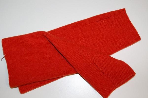 Guante lana rojo - Sombrerería Matilde Falcinelli