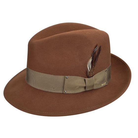 Sombrero fieltro Blixen Coñac - Sombrerería Matilde Falcinelli