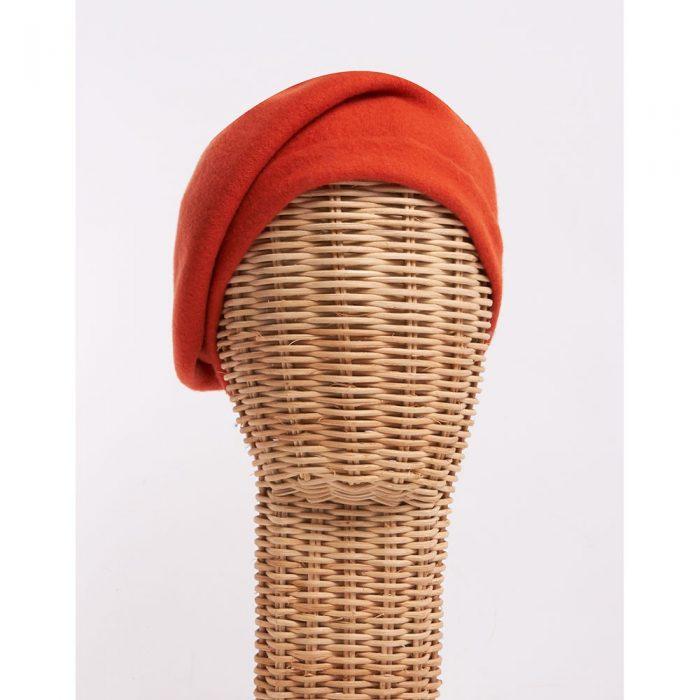 Boina orange - Sombrerería Matilde Falcinelli