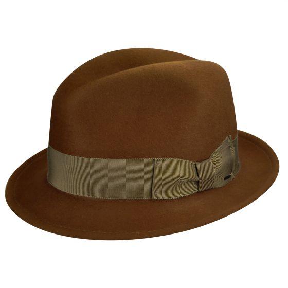 Sombrero hombre ala corta Riff Oxblood - Sombrerería Matilde Falcinelli