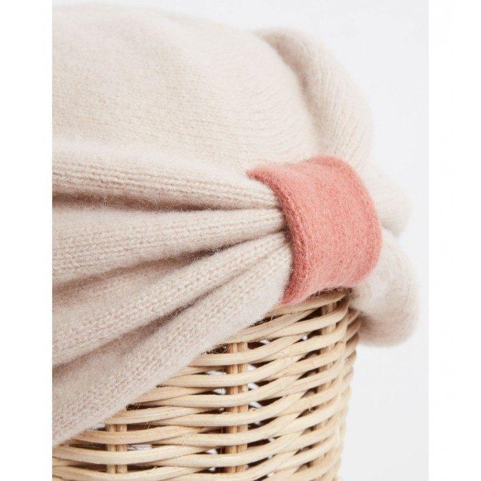 Turbante beige rose - Sombrerería Matilde Falcinelli
