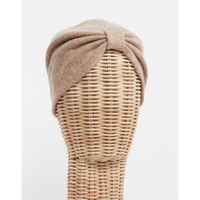 Turbante camel - Sombrerería Matilde Falcinelli