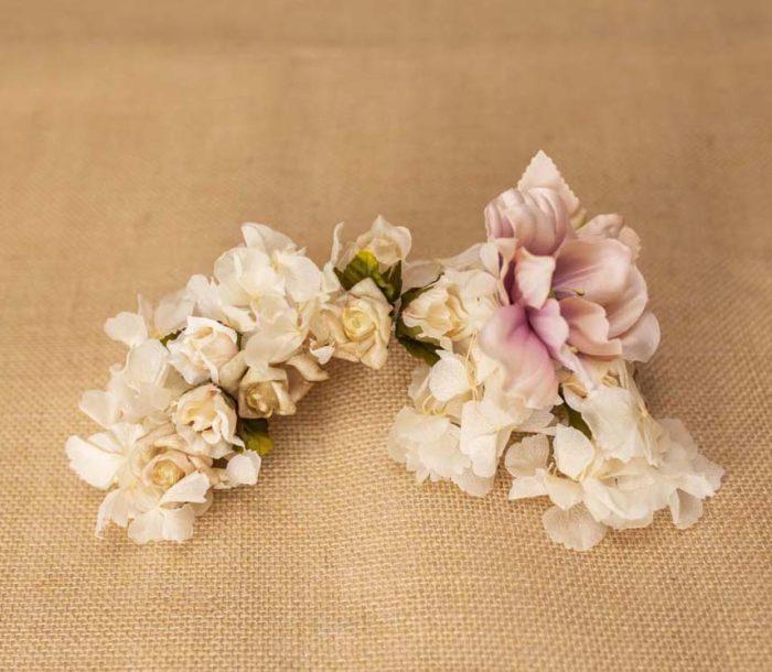 Adorno flores preservadas - Sombrerería Matilde Falcinelli