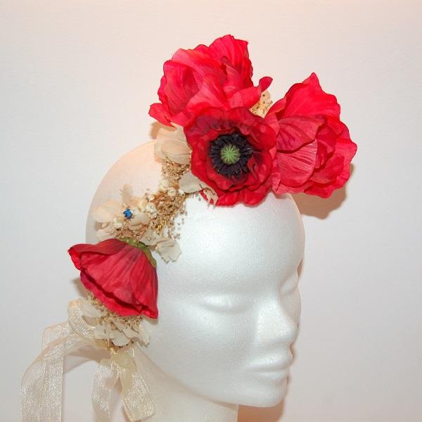 Corona papaveri - Sombrerería Matilde Falcinelli