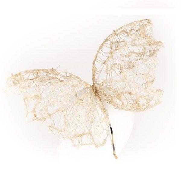 Tocado mariposa - Sombrerería Matilde Falcinelli