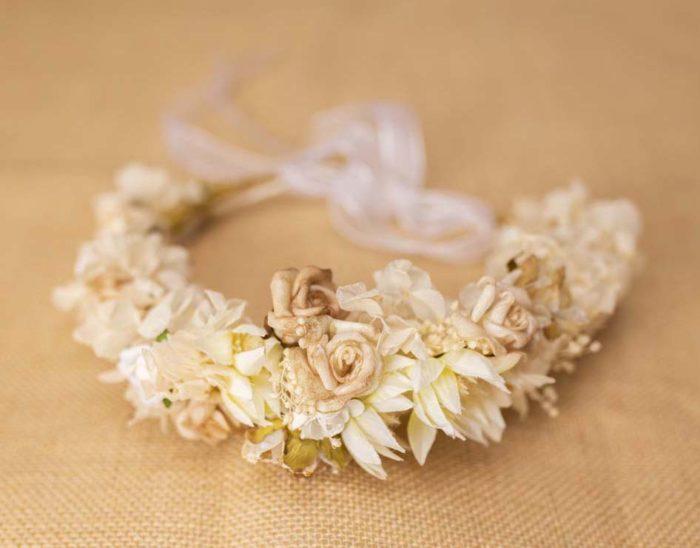 Corona entera White - Sombrerería Matilde Falcinelli