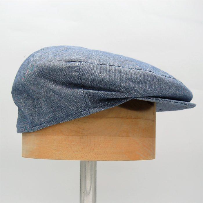 Gorra plana lino azul - Beagle - Sombrerería Matilde Falcinelli
