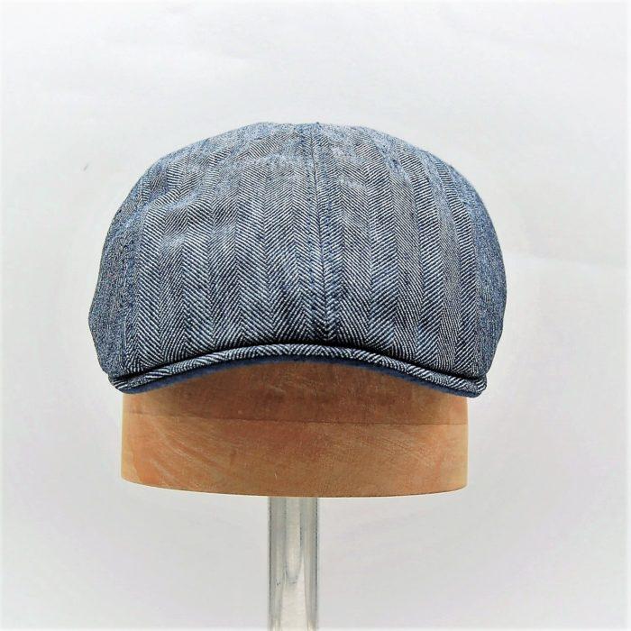 Gorra inglesa verano azul Marone - Sombrerería Matilde Falcinelli