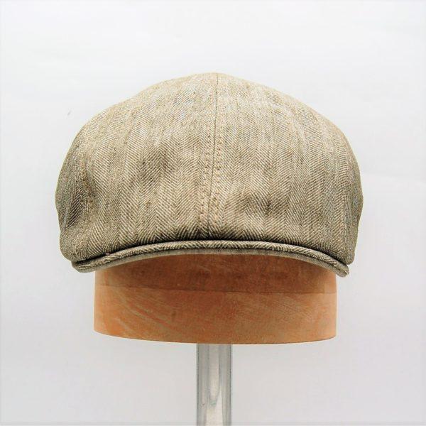 Gorra inglesa verano Beige Marone - Sombrerería Matilde Falcinelli