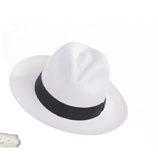 Sombrero Panamá Fino blanco- Sombrerería Matilde Falcinelli