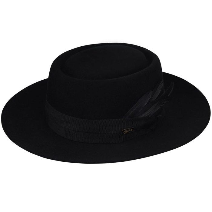 Sombrero Pork pie Shonfeld negro - Sombrerería Matilde Falcinelli