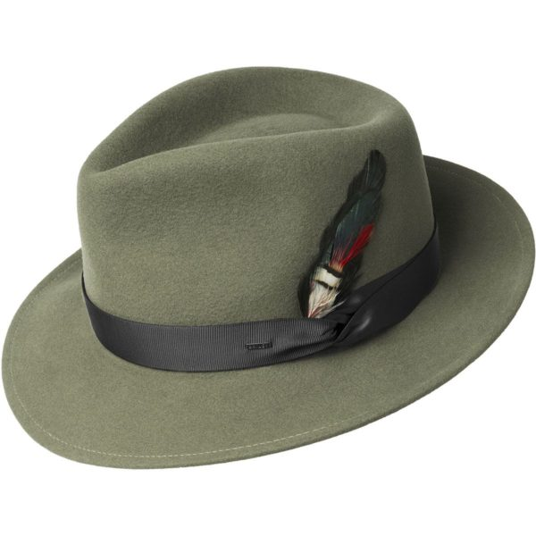 Sombrero Caza Metrick pale olive - Sombrerería Matilde Falcinelli