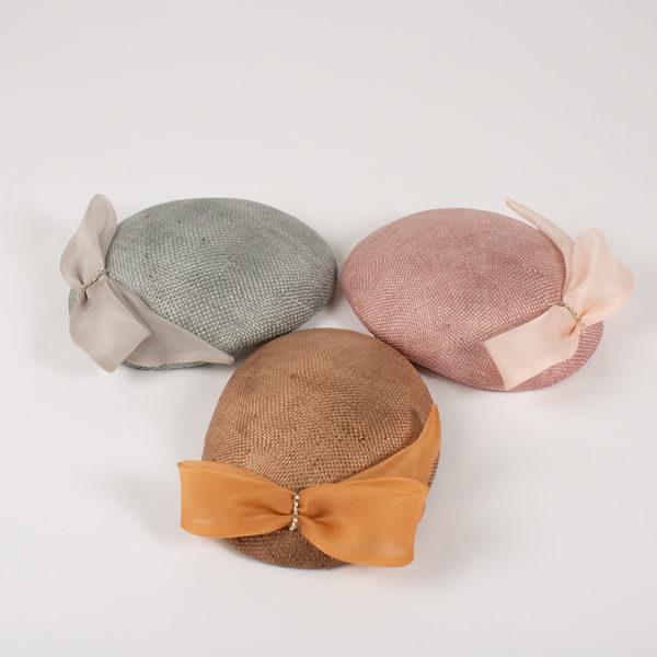 Tocado pillbox varios tonos - Sombrerería Matilde Falcinelli
