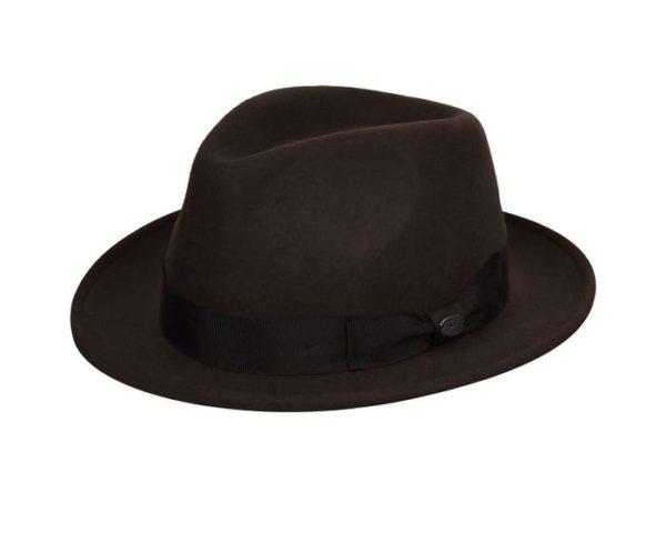 Sombrero hombre ala corta Maglor Chocolate - Sombrerería Matilde Falcinelli