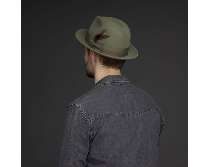 Sombrero Tino pale olive - Sombrerería Matilde Falcinelli