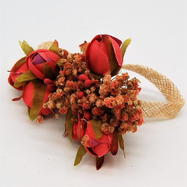 Peineta flores - Sombrerería Matilde Falcinelli