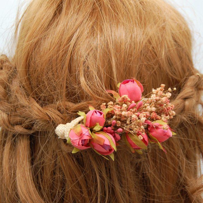 Peineta flores comunión - Sombrerería Matilde Falcinelli