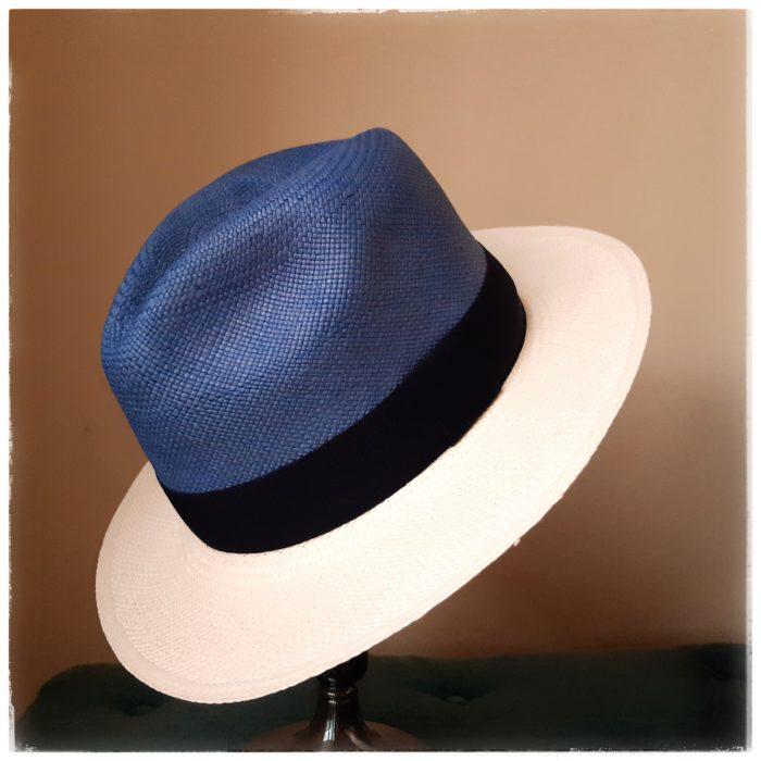 Sombrero Panamá Maxi Pamela bicolor - Sombrerería Matilde Falcinelli