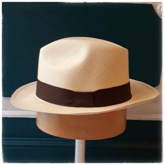 Panamá de trenzado Montecristi - Sombrerería Matilde Falcinelli