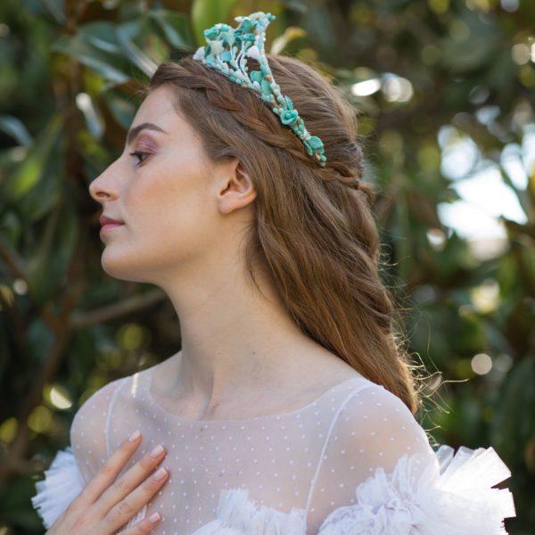 Tiara de flores Giada - Sombrerería Matilde Falcinelli