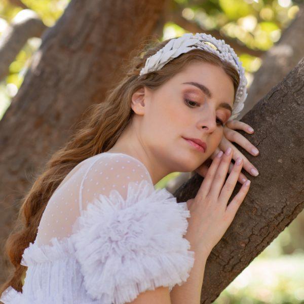 tiara de porcelana novia