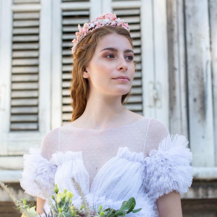 tiara de novia - Sombrerería Matilde Falcinelli