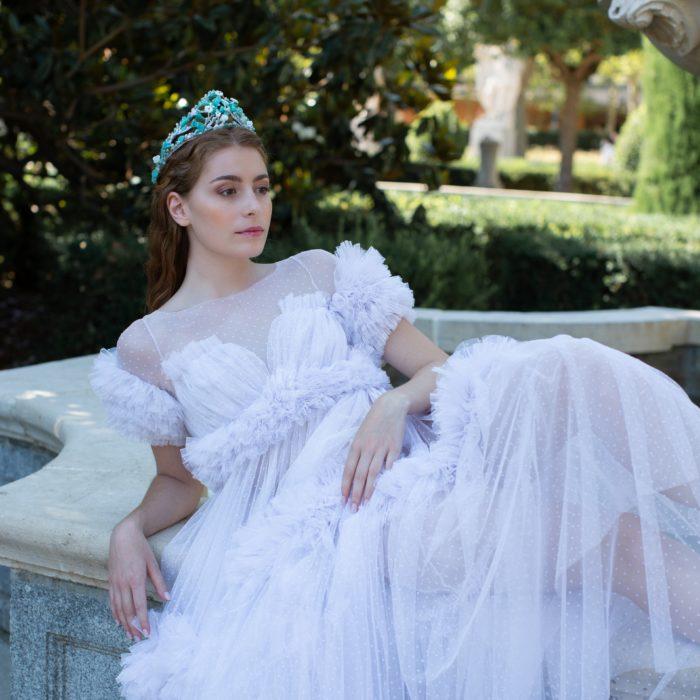 Tiara de flores Giada Novia - Sombrerería Matilde Falcinelli