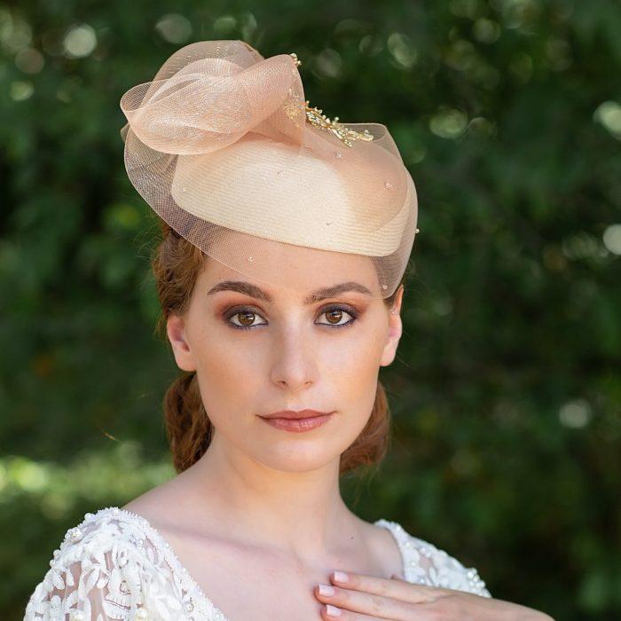 Tocado Novia Marthe - Sombrerería Matilde Falcinelli