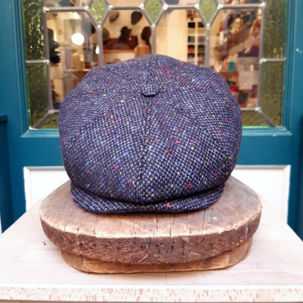 Gorra tweed irlandesa Azul Marone - Sombrerería Matilde Falcinelli