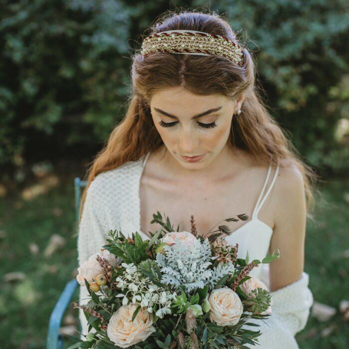 diadema de novia - Sombrerería Matilde Falcinelli