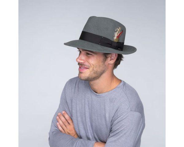 sombrero fedora Invierno gris - Sombrerería Matilde Falcinelli