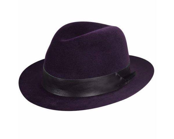 Sombrero Flume morado - Sombrerería Matilde Falcinelli