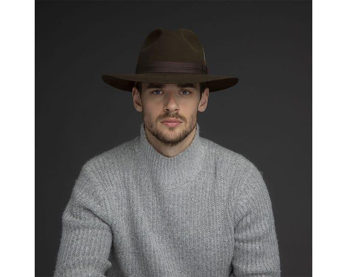Sombrero fieltro castor Girvin Chocolate - Sombrerería Matilde Falcinelli