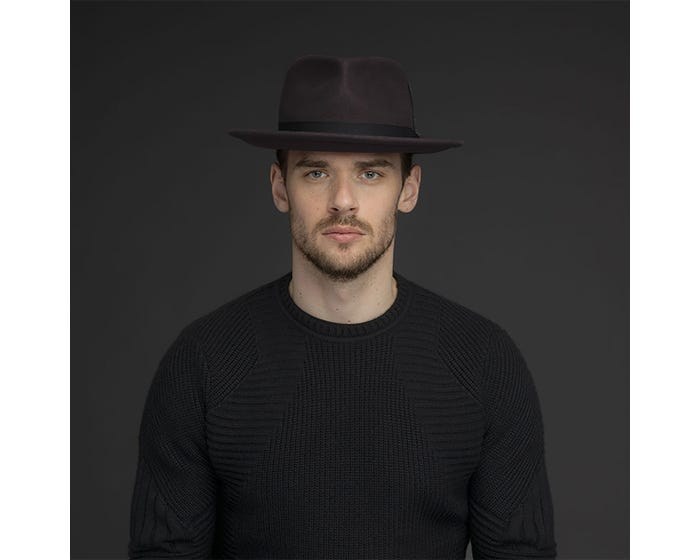 Sombrero Caballero Headey Black - Sombrerería Matilde Falcinelli