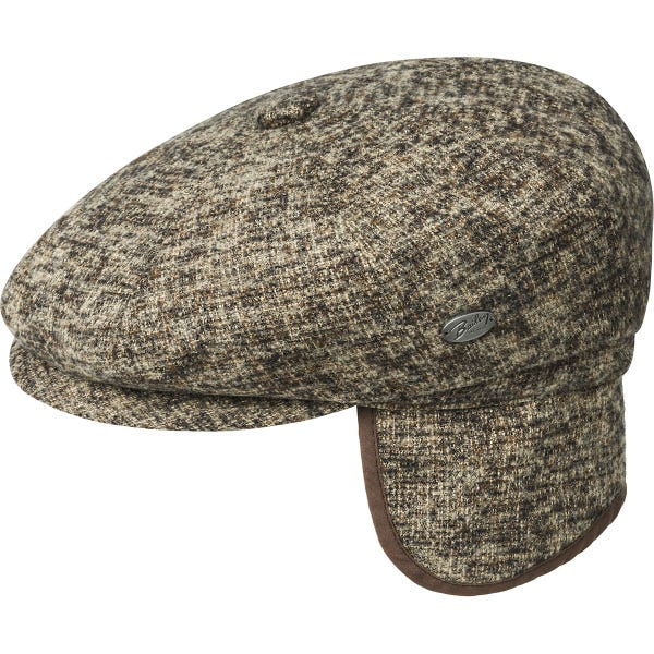 Gorra lana orejeras botón bailey - Sombrerería Matilde Falcinelli