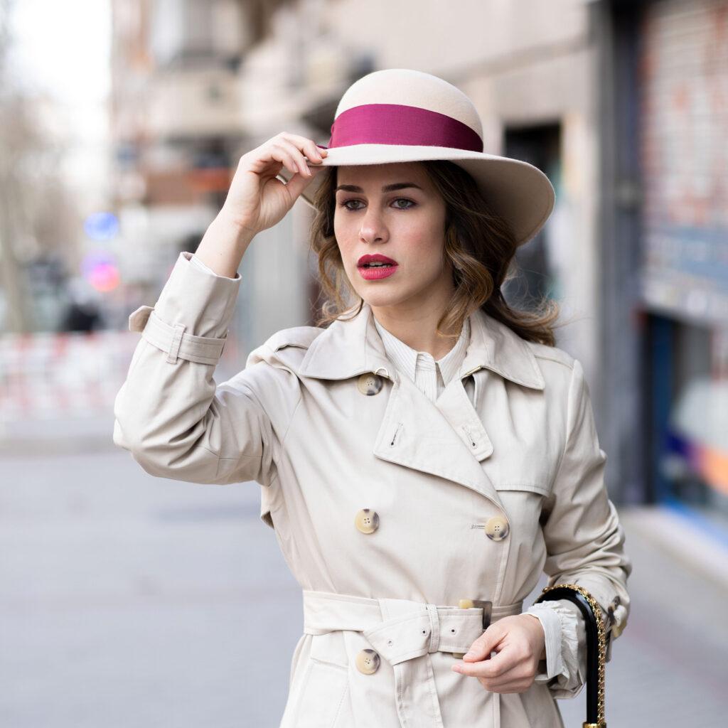 sombrero copa redonda