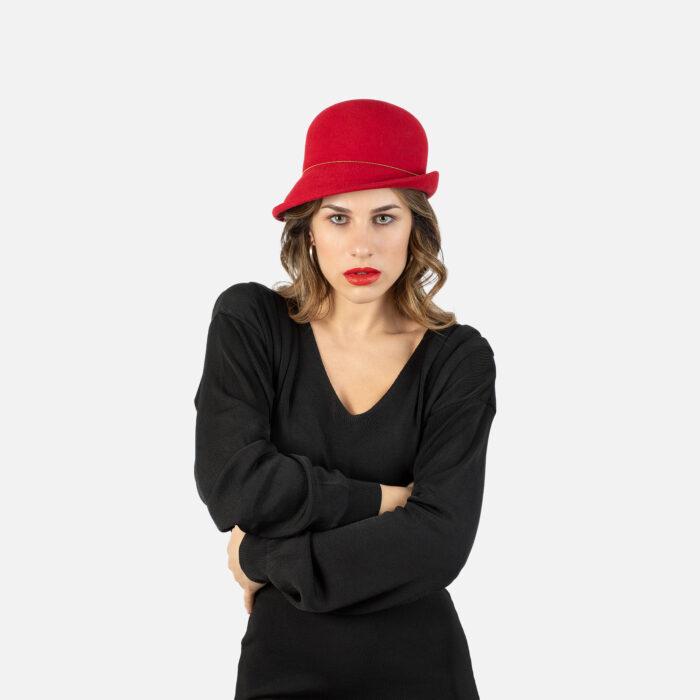 Sombrero cloché en fieltro