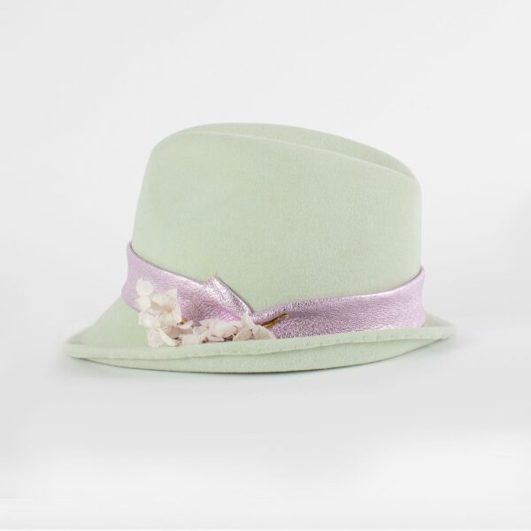 Sombrero trilby mujer tonos pastel