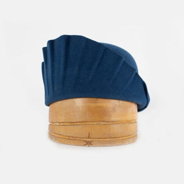 Casquete estilo art deco azul