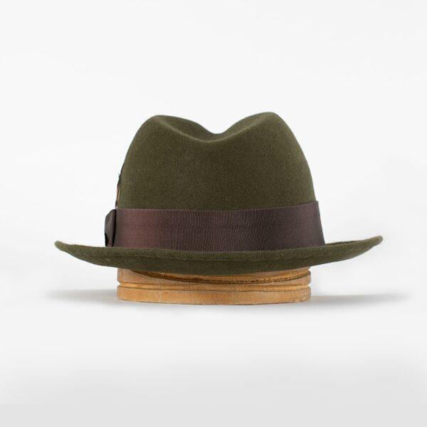Sombrero fedora ala media Musk verde