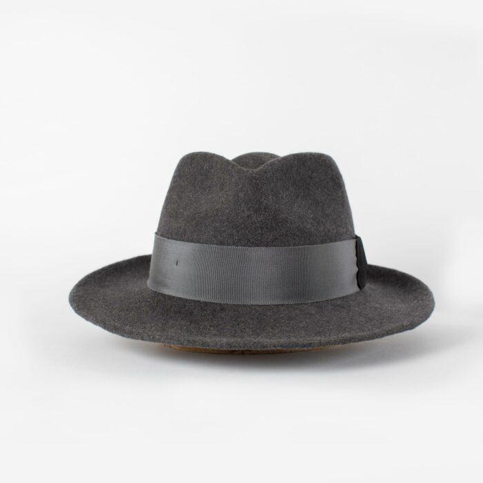 Sombrero fedora ala intermedia Gris