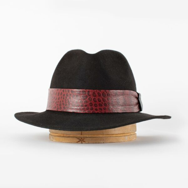 Sombrero fedora clásico en fieltro de castor Milano
